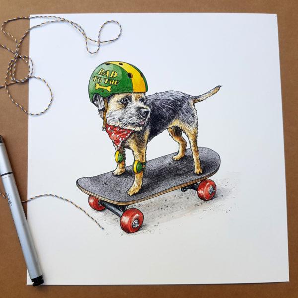 Boarder Terrier Print