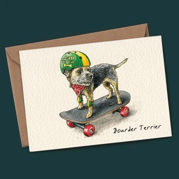Boarder Terrier Card