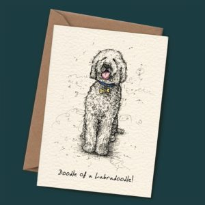 Doodle of A Labradoodle Card