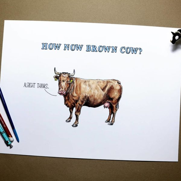 How Now Brown Cow Print