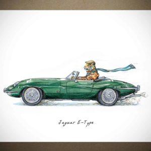 Jaguar E-Type Print