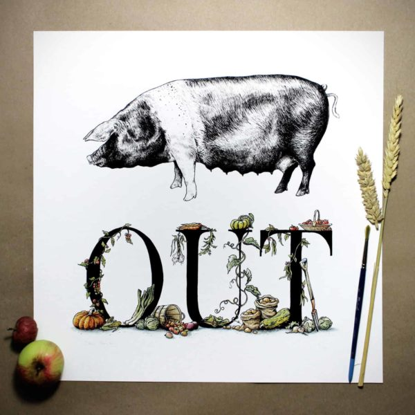 Pig Out Print (Large)