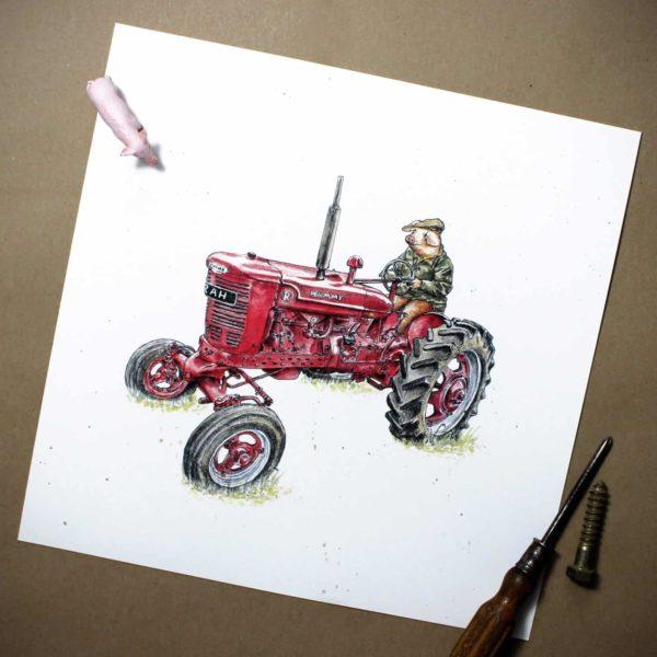 Pig Farming Print