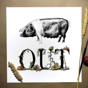 Pig Out Print (Small)