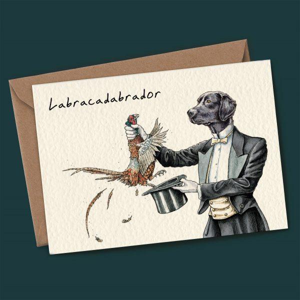 Labracadabrador Card