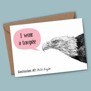 Bald Eagle Confession Card