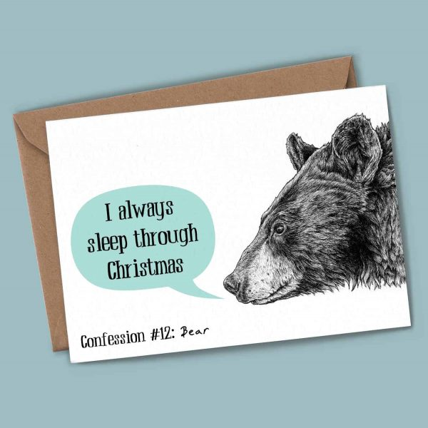 Bear Confession Card