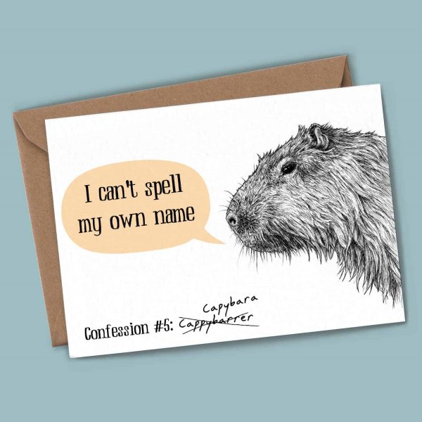 Capybara Confession Card