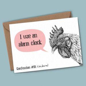Cockerel Confession Card