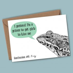 Frog Confession Card