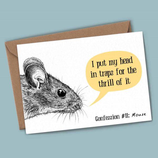 Mouse Confession Card