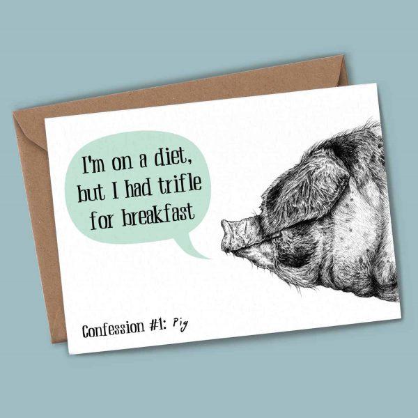 Pig Confession Card