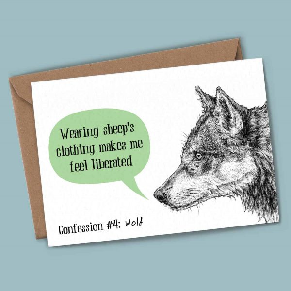 Wolf Confession Card