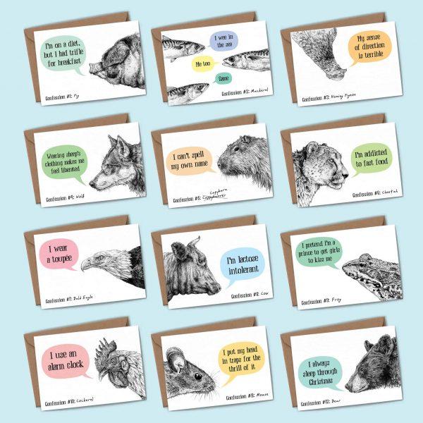 Creature Confessions Cards Set