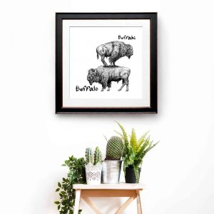 Buffahi…Buffalo Print