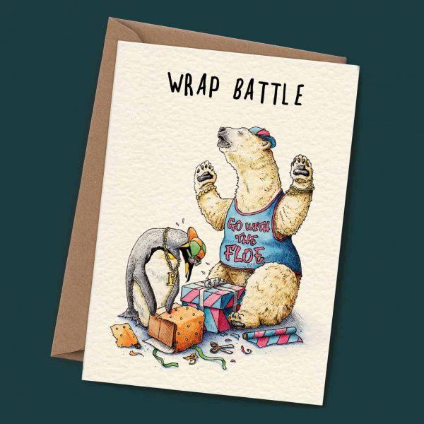 Wrap Battle Christmas Card
