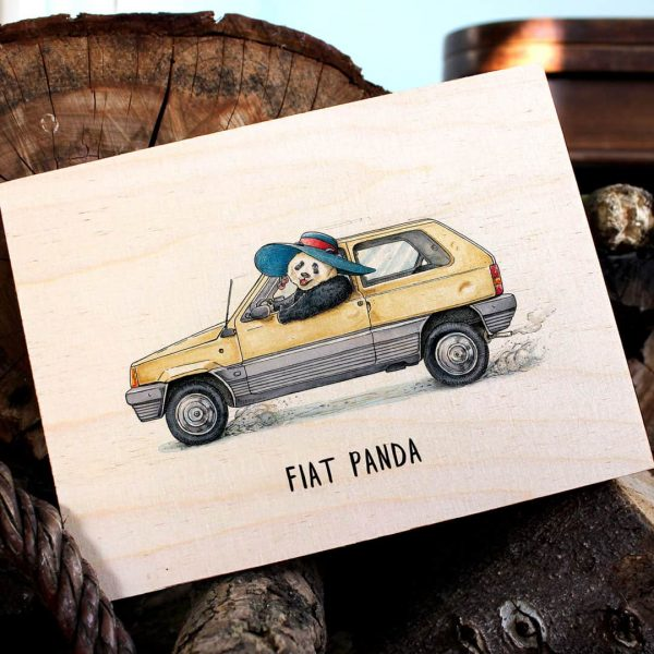 Fiat Panda Wood Print