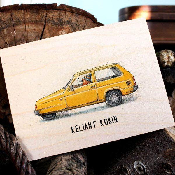 Reliant Robin Wood Print