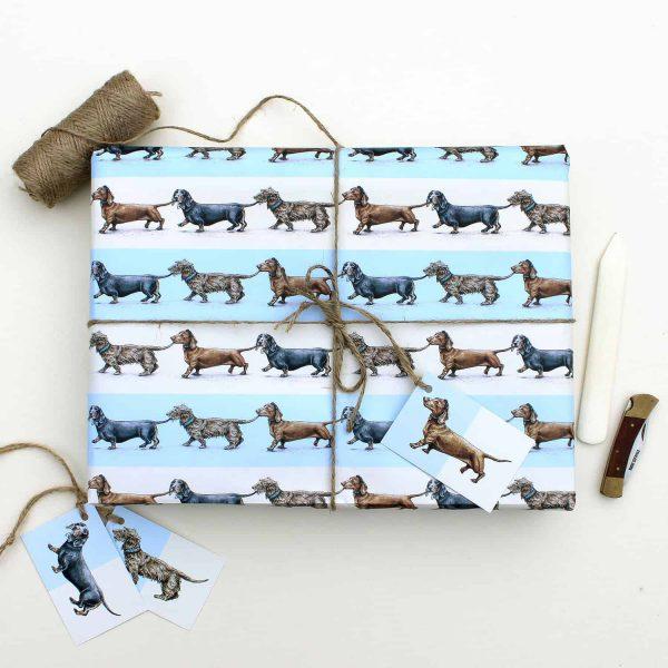 Sausage Dogs Gift Wrap Sheet