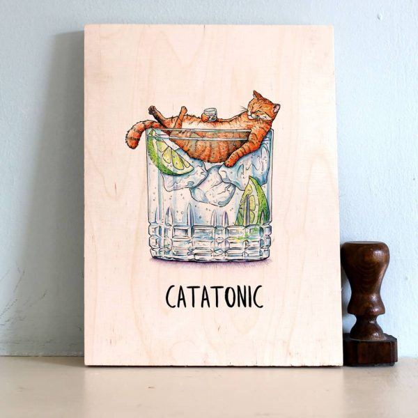 Catatonic Wood Print