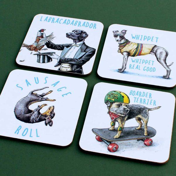 Dogs Coasters Set