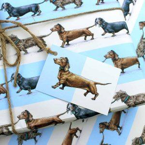 Sausage Dogs Gift Wrap Set