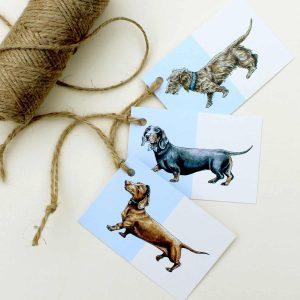 Sausage Dogs Gift Tags Set