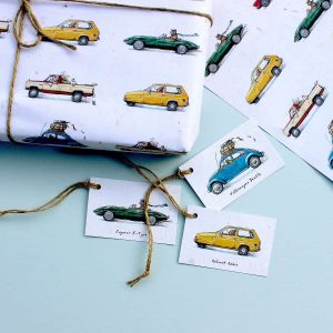 Animal Cars Gift Tags Set
