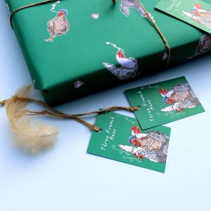 Three French Hens Gift Tags Set