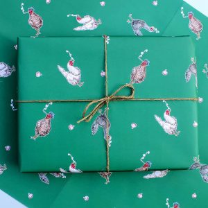 Three French Hens Gift Wrap Set