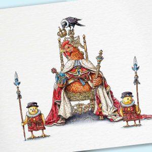 Coronation Chicken Print