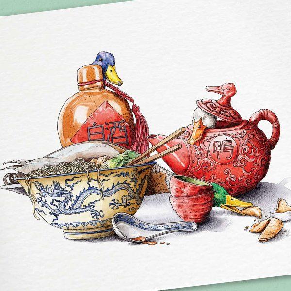 Peking Duck Print