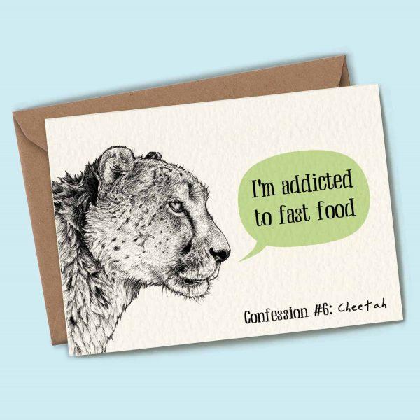 Cheetah Confession Card
