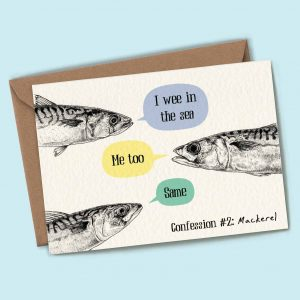 Mackerel Confession Card