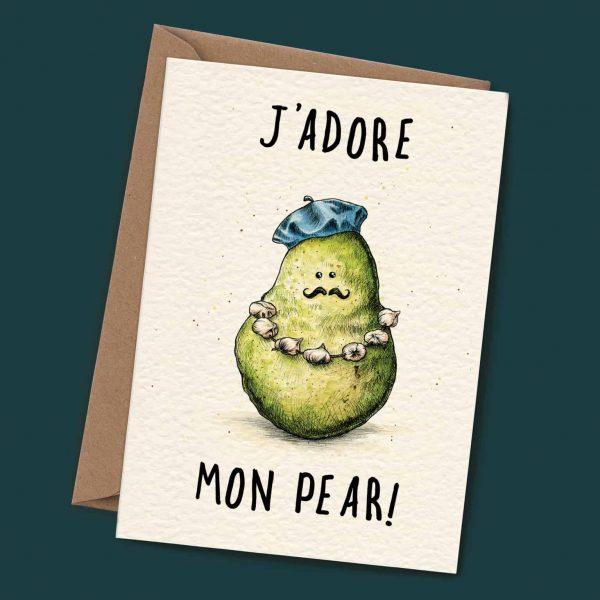 J'adore Mon Pear Card