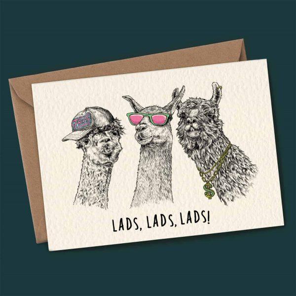 Lads, Lads, Lads Card