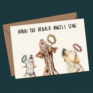 Bark The Herald Angels Sing Card